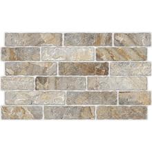 Revestimento de Parede Acetinado Borda Arredondada Brick Stone C54008 34x58cm Embramaco