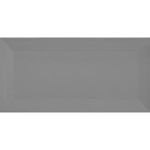 Revestimento de Parede Brilhante Borda Arredondada 10x20cm Metro Grey Eliane