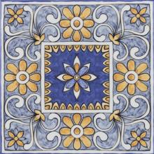 Revestimento de Parede Brilhante Borda Arredondada 20,5x20,5cm Patchwork Maiolica Eliane