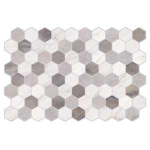 Revestimento de Parede Borda Arredondada Brilhante Eko Mosaico Gris 34x50cm Pamesa