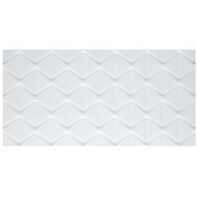 Revestimento de Parede Borda Reta Acetinado Cartier Blanc 45x90cm Eliane
