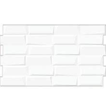 Revestimento de Parede Acetinado Borda Arredondada Infinity White C54021 Embramaco