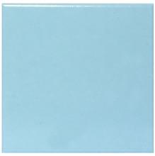 Revestimento de Parede Borda Arredondada Semi-Brilho Azul Piscina Liso 20x20cm Pierini