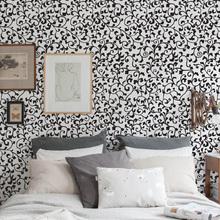 Revestimento Decorativo Arabesco Preto e Branco 44x300cm