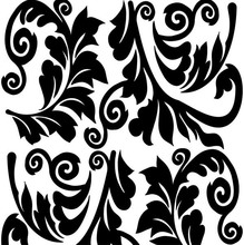 Revestimento Decorativo Arabesco Preto e Branco 45x200cm