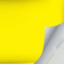 Revestimento Decorativo Básico Amarelo 45x200cm