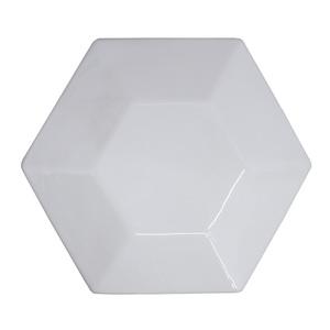 Revestimento Decorativo Cerâmica Branco Cristal 23x20cm Essenza