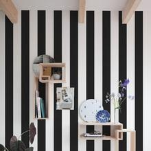 Revestimento Decorativo Listras Preto e Branco 44x300cm