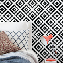 Revestimento Decorativo Losangos Preto e Branco 44x300cm