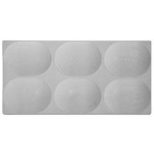 Revestimento de Parede Dome Convexa Cinza 12,5x25x1,3cm Caixa com 0,56m² Revest l'art