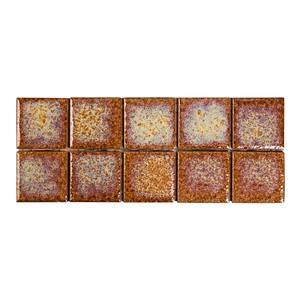 Revestimento Externo Pampulha 7,5x7,5cm Dourado Brilhante Bold PEI 0 Caixa 2m² Portobello