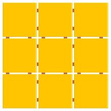 Revestimento para Fachada Amarelo 30x30cm Ceral