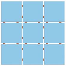 Revestimento para Fachada Azul Piscina 30x30cm Ceral