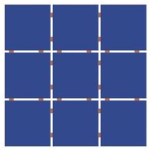 Revestimento para Fachada Azul Royal 30x30cm Ceral