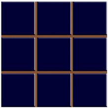 Revestimento para Fachada e Piscina Brilhante Multiplus Azul Cobalto 18100085 20,3x20,3cm Ceral