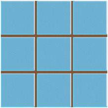 Revestimento para Fachada e Piscina Brilhante Multiplus Azul Piscina 18100095 20,3x20,3cm Rosagres
