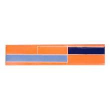 Revestimento para Fachada Acetinado Regua Retro Azul 05x24cm Fênix