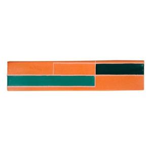 Revestimento para Fachada Acetinado Regua Retro Verde 05x24cm Fênix