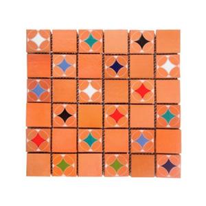 Revestimento para Fachada Acetinado Telado Estrelas Policromia 33x33cm Fênix