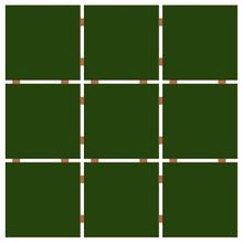 Revestimento para Fachada Verde Musgo 30x30cm Ceral