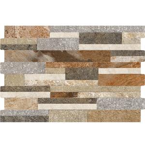 Revestimento para Parede Borda Arredondada Acetinado Eko Stone Mix 34x60cm Pamesa