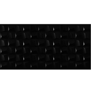 Revestimento para Parede Borda Reta Cubic Black 45x90,2cm Eliane