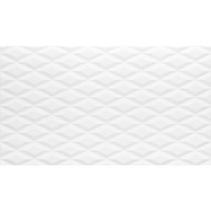 Revestimento para Parede Brilhante Borda Arredondada Crystalle White 33x57 Embramaco