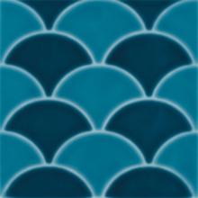 Revestimento para Piscina Cerâmica  Geomarine Shell Azul 19x19cm Eliane