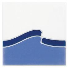Revestimento para Piscina Brilhante Azul Onda 1700C 15x15cm Eliane
