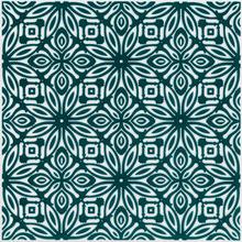 Revestimento para Piscina Cerâmica Flower Fundo Verde Patch 20x20cm Eliane