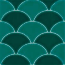 Revestimento para Piscina Cerâmica Geomarine Shell Verde 19x19cm Eliane