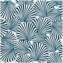 Revestimento para Piscina Cerâmica Shell Concha2 Fundo Azul 20x20cm Eliane