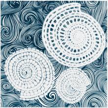 Revestimento para Piscina Cerâmica Shell Concha 3 Decor Azul 20x20cm Eliane