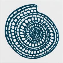 Revestimento para Piscina Cerâmica Shell Concha Mono Azul 20x20cm Eliane