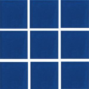 Revestimento Externo Piscine Acqua 9,5x9,5cm Azul Cobalto Acetinado Bold PEI 1 Caixa 1,4m² Portobello