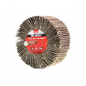 Roda de Lixa com Haste para Furadeira Grão 40 60x40x6mm MTX