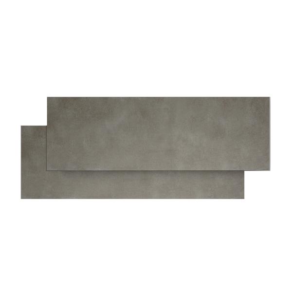 Rodap coordenado porcelanato cemento concreto 10x84cm - Mosaico leroy merlin ...