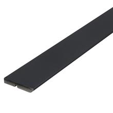 Rodapé de MDF Ultra Preto RP10A Clean Preto Premium 9,5x240cm Artens