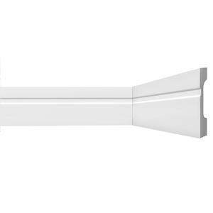 Rodapé HDPS Branco 18x70x2440cm Gart