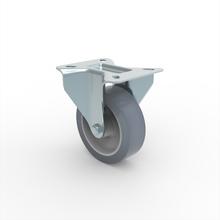 Rodízio 101,6mm Fixo PVC Preto Schioppa