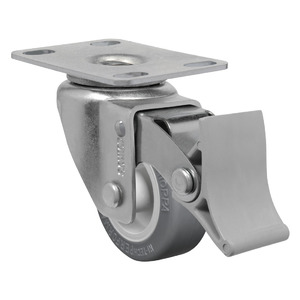 Rodízio 50,8mm com Freio Giratório PVC Preto Schioppa
