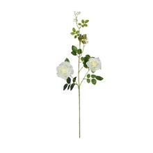 Rosa 3 Flores Branca Amarela 95cm