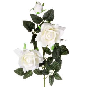 Rosa Aveludada Branca 90cm Flor Arte
