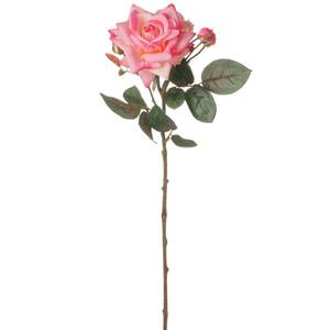 Rosa Real Toque Grace X4 68cm Rosa Flor Arte