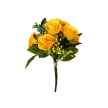 Rosa Toque Real Amarelo Haste 25cm