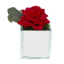 Rosa Vermelha Vaso Espelhado 8cm