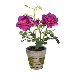 Roseira mini com vaso 26cm Beathy Flor Arte