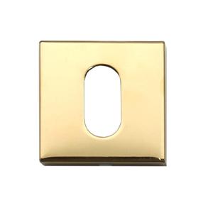 Rosetas para Interna Aço Inox Fumê Quadrada Dourado