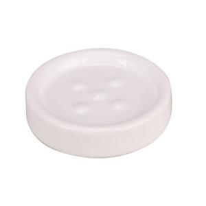 Saboneteira Bancada  Branca Redonda Cerâmica Legend Sensea