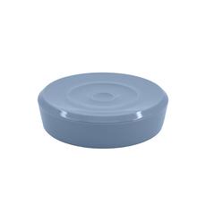 Saboneteira Bancada Plástico Redonda Azul Ou